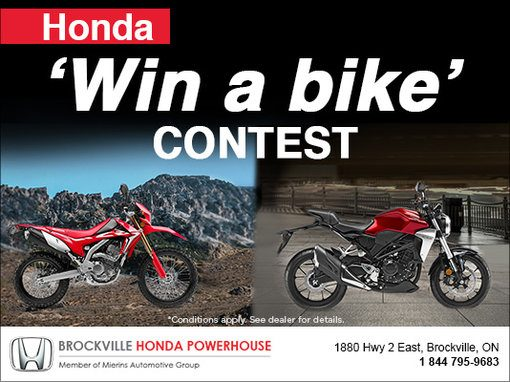 Honda Win a bike contest